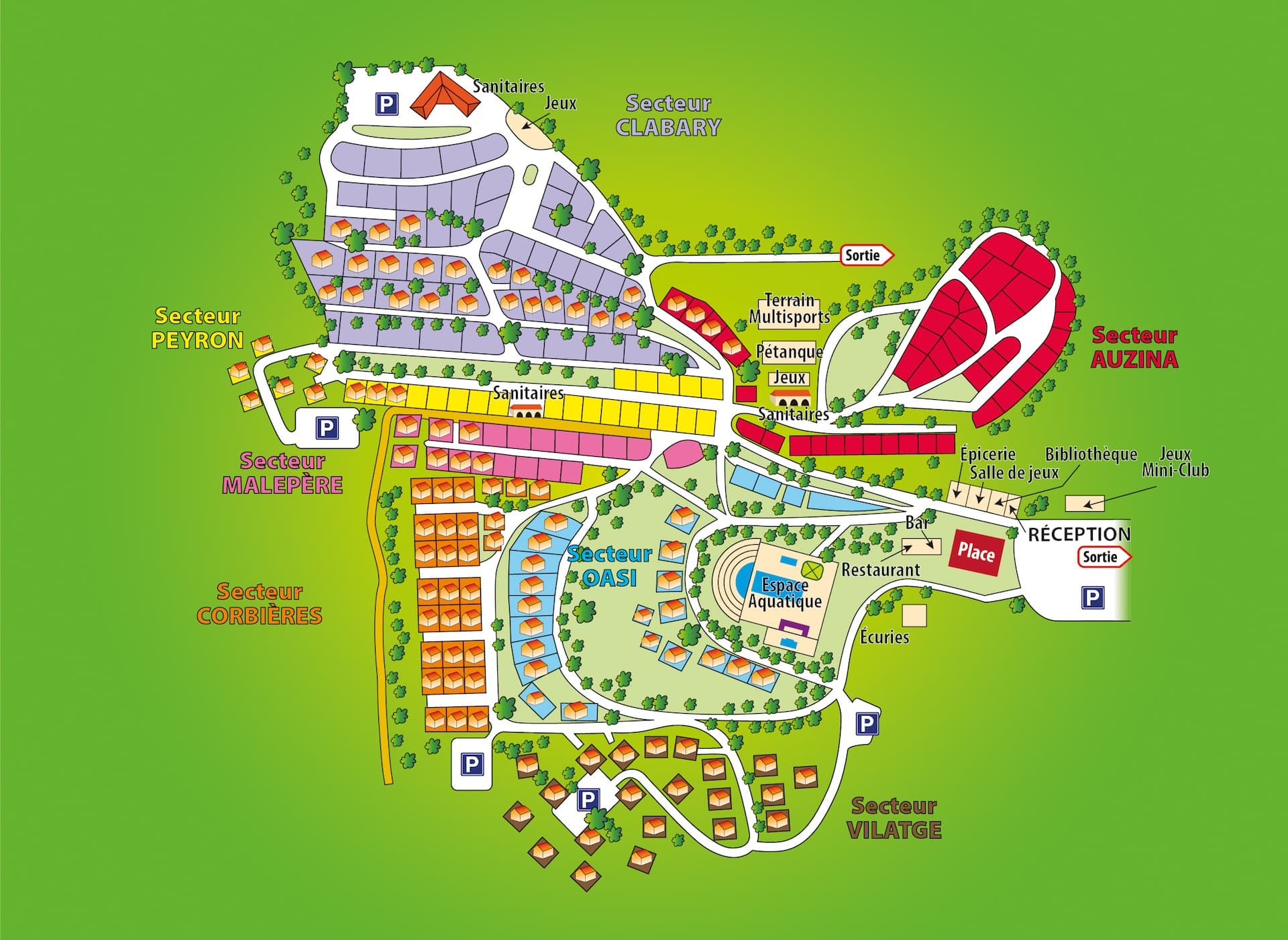 Map Of The Campsite Domaine Darnauteille - Us-camping-map